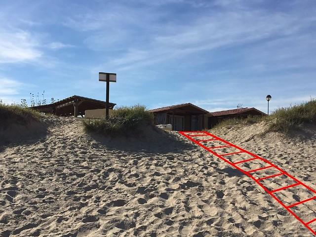 Redirigir las entradas a la playa evitando la fragmentación dunar por el pisoteo de bañistas