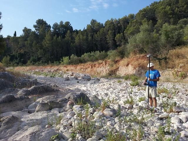 Toma de datos en el Riu Girona